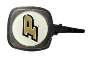 Purdue alligator clip retractable name badge holder