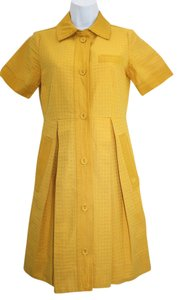 Marc by Marc Jacobs short dress Embossed Yellow Cotton on Tradesy