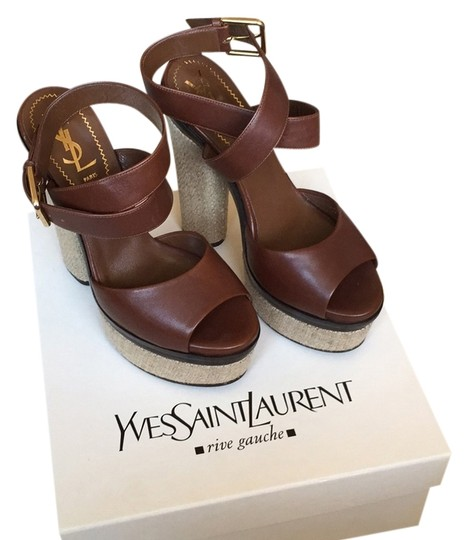 Saint Laurent Brown Platforms