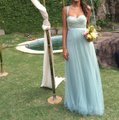 BHLDN Sea Glass Green Gold-flecked Lace and Tulle Juliette 33258849 Feminine Bridesmaid/Mob Dress Size 2 (XS) Image 0