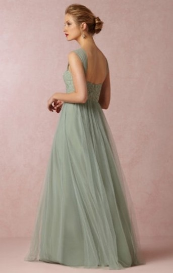 BHLDN Sea Glass Green Gold-flecked Lace and Tulle Juliette 33258849 Feminine Bridesmaid/Mob Dress Size 2 (XS) Image 3