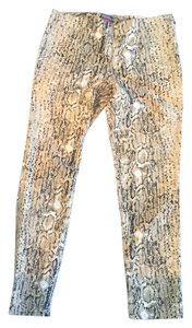 Vince Camuto Stretch Fits Worn Once tan/black animal print Leggings