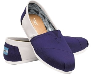TOMS Blue White Flats