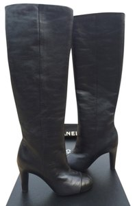 Chanel Cc Pearly black/black Boots