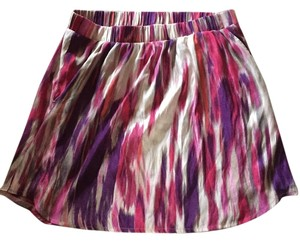 Express Mini Skirt Pink, Purple and White