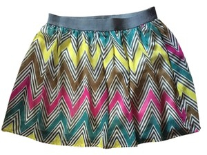 bebe Mini Skirt Pink, grey, white, blue, yellow, brown