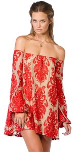 For Love & Lemons short dress Red And Precioso Sangria & Night Out Lace on Tradesy