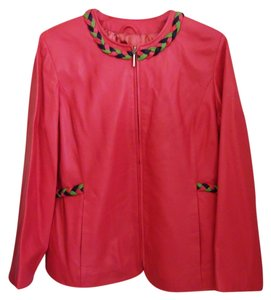 Terry Lewis Classic Luxuries Pink Leather Jacket