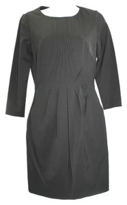 Reiss Pleated Black Dress