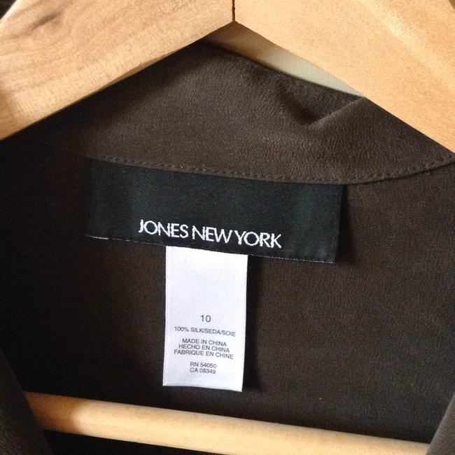 Jones New York Top Dark greenish brown