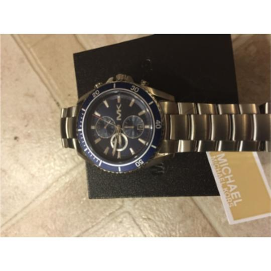 Michael Kors Brand New Jetmaster Navy And Silver Chronograph Men's Watch MK8354