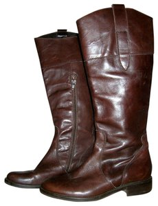 Lavorazione Artigiana Italian Leather Italian Designer Italian Made In Italy Leather Leather Riding Brown Boots