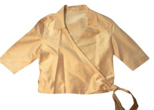 Other Handmade Custom Silk Wrap Side Tie Top eggshell