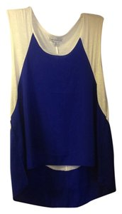 American Eagle Outfitters Top Blue and White