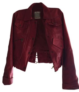 Firenze Leather Jacket Red Leather Jacket