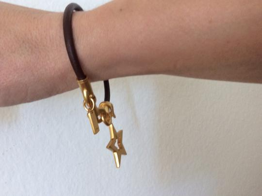Coach COACH Slim Leather bracelet with gold star charm