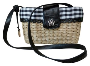 Brighton Jute Straw Plaid Summer Shoulder Bag