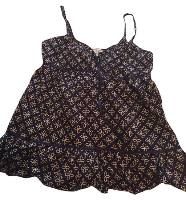 American Eagle Outfitters Print Babydoll Empire Waist Top Purple