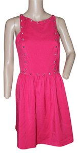 Kensie short dress bright pink on Tradesy