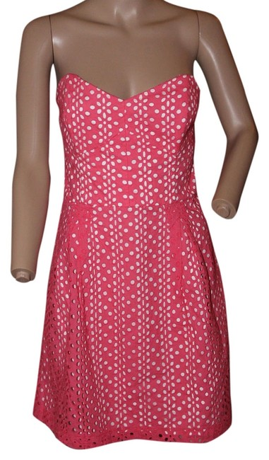 Preload https://item1.tradesy.com/images/kensie-dress-bright-pink-and-white-5308285-0-0.jpg?width=400&height=650