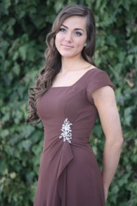 EnVogue Bridal Brown Mob Bridesmaid Evening Modest B931 Dress