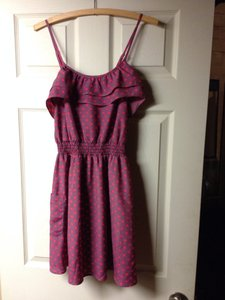 Xhilaration short dress Purple Ruffle Polka Dot on Tradesy