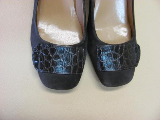 Talbots New Excellent Condition Size 6.00 Wide Suede/Leather Brown Pumps