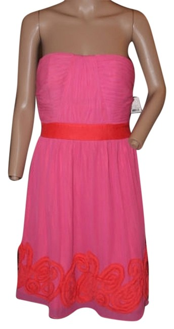 Preload https://item3.tradesy.com/images/miss-sixty-bright-pink-and-orange-knee-length-cocktail-dress-size-6-s-5308987-0-0.jpg?width=400&height=650