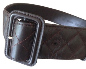 Burberry QUILTED BELT BROWN IN EXCELLENT CONDITION LEATHER