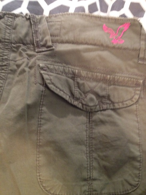 American Eagle Outfitters Army Knee-length Cargo Shorts Olive Green