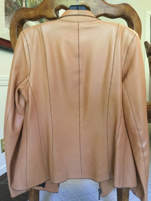 Cole Haan Camel Leather Jacket