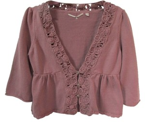 Anthropologie Cropped Cardigan Button Front Sweater