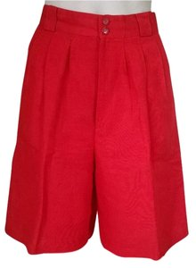 Giorgio Sant'Angelo High Waist High Waisted Bermuda Shorts Red