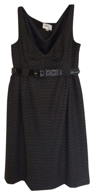 Preload https://item3.tradesy.com/images/milly-black-with-cream-dots-short-workoffice-dress-size-4-s-530967-0-0.jpg?width=400&height=650
