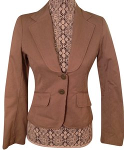 H&M Pinstripe Preppy Office Olive Green Blazer