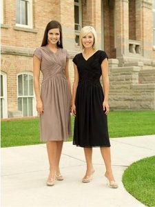 EnVogue Bridal Black Mother Of The Bride Banquet Homecoming Modest Dress