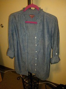 Merona Button Down Shirt Blue/ Denim