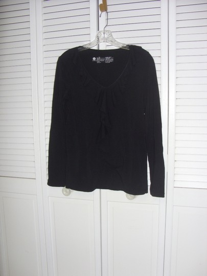 Black Ruffle Small Top #5309965 - Blouses chic