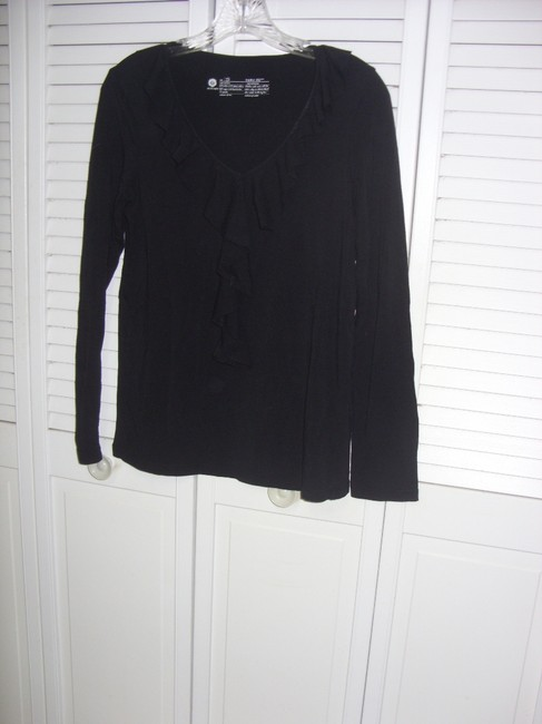 Huetopia Ruffle Top Black