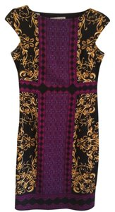 Maggy London short dress Black, purple, gold multi on Tradesy