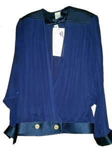 Gottex Silk Vintage Top Blue