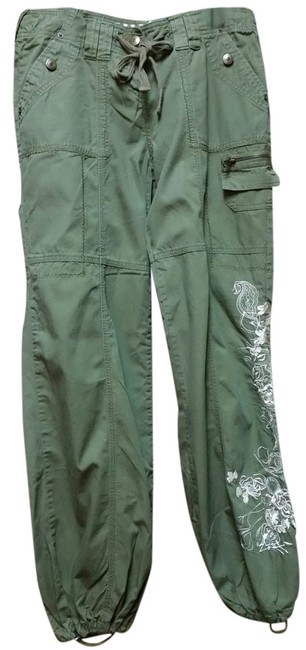 Item - Olive Green Embroidered Pants Size 6 (S, 28)