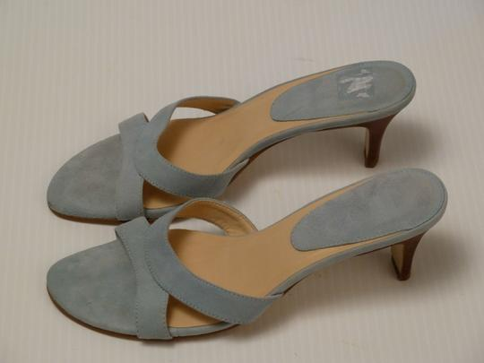Ann Taylor LOFT Suede Powder Blue Sandals