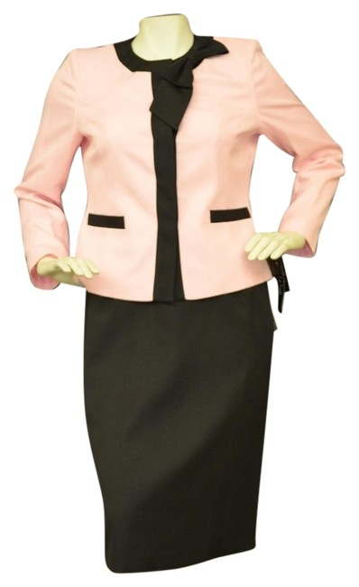 Item - Pink and Black Luxemburg Gardens Skirt Suit Size 4 (S)