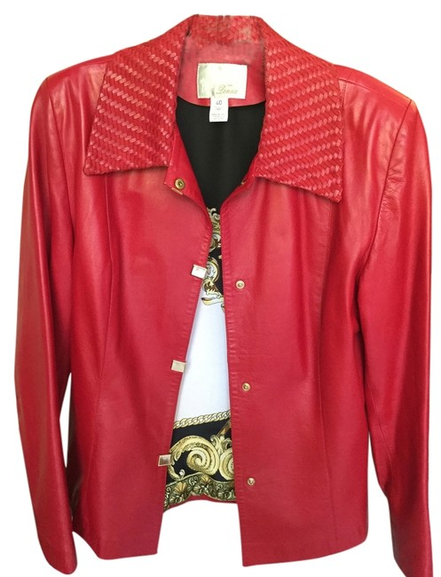 Barcelino Red Leather Jacket