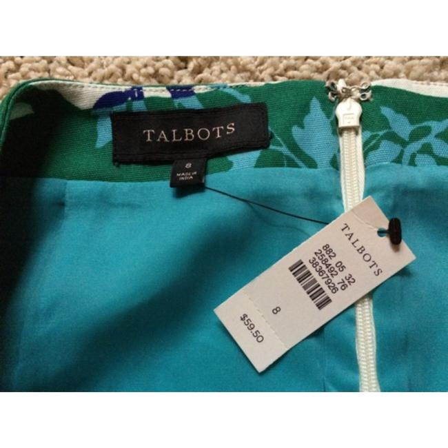 Talbots Skirt Blue Green