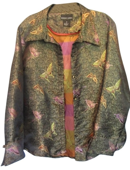 Preload https://item2.tradesy.com/images/multicolor-silk-butterfly-spring-jacket-size-16-xl-plus-0x-5311981-0-0.jpg?width=400&height=650