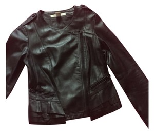 ESTHER CHEN Blac Leather Jacket