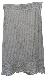 Ted Baker Knit Crochet Skirt White