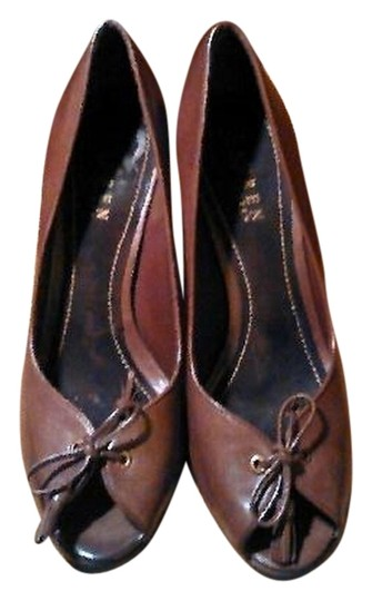 Preload https://item2.tradesy.com/images/lauren-ralph-lauren-brown-leather-peep-pumps-size-us-85-regular-m-b-5312431-0-0.jpg?width=440&height=440